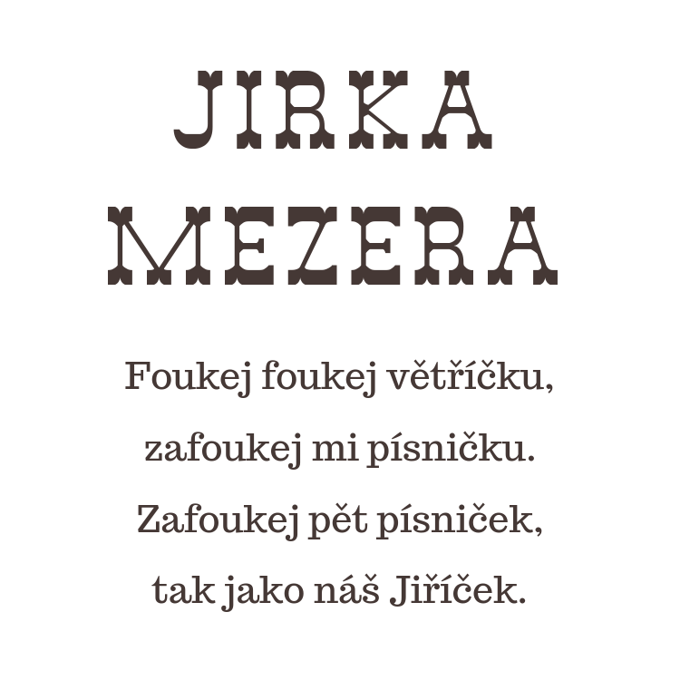 Jirka Mezera básnička